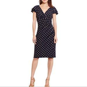 Lauren Ralph Lauren Dress Polka Dot Sheath Work 8